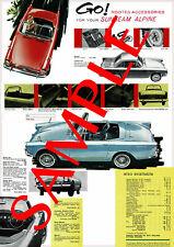 Sunbeam Alpine Series 4 Reproduction Accessory Poster