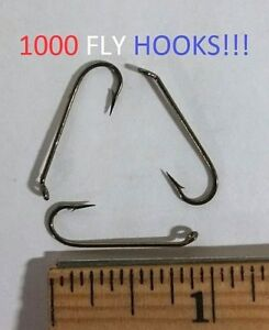 1000 Lazer Sharp Sz.8 3x-Long Bronze Streamer Fly Hooks (L058M-8) EB090406