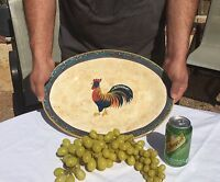 Rooster Oval Platter Servinghttp: Tray Bowl By Noble Excellence Rooster Cafe 16""