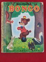 Bongo, A Little Golden Book,1948(VINTAGE Walt Disney; BROWN FOIL)