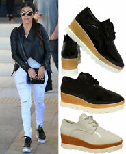 Unbranded Lace Up Wet look, Shiny Shoes for Women