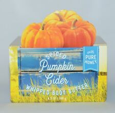 BATH & BODY WORKS SPICED PUMPKIN CIDER WHIPPED BUTTER PURE HONEY LOTION 6.5 OZ