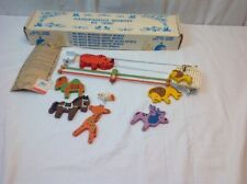Vintage Crib Mobile Originals by Irmi Nursery Wood Baby Hand painted Animals