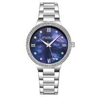 Stuhrling 3907 2 Symphony Quartz Crystal Accented Mother of Pearl Womens Watch
