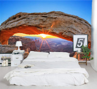 3D Sunrise Arch Mountain Wall Murals Wallpaper Photo Painting for Room Decor
