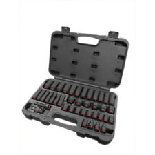 """3/8"""" Drive Impact Socket Set 6-24mm Shallow and Deep + UJ + Ext in Plastic Case"""