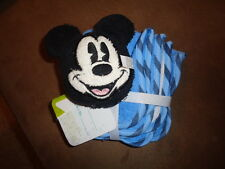 Mickey Mouse Terry Cloth Tub Pal & Set of 3 Washcloth Disney Baby Blue White NEW