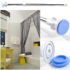 Telescopic Shower Bath Curtain Rail Extendable Heavy Duty Stable Steel Pole Rod