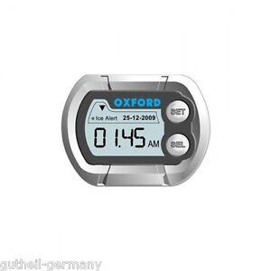 Lenker-Uhr digital für Motorrad Cockpit LCD-Micro-clock wasserdicht  Frostwarner