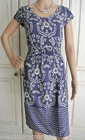 NEW Ex White Stuff Blue & Pale Grey Floral Spot Tea Dress Size 8 10 12 14 16 18