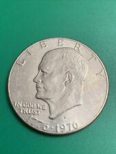1776-1976 D Eisenhower Liberty Bell Moon Silver One Dollar US Bicentennial Coin