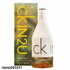 CK IN2U FOR HER BY CALVIN KLEIN* 5.0 O.Z EDT *WOMEN'S PERFUME* NEW IN SEALED BOX