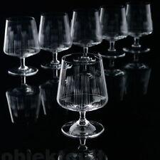 6 Schott Zwiesel Cognacschwenker Cognac-Gläser Brandy Strahlenschliff 60er–70er