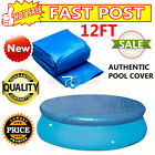 Above Ground Swimming Pool Cover Tarp Inflatable Easy Fast Set Rope Family 12FT