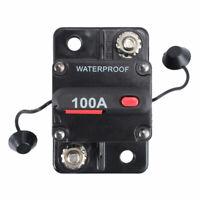100A AMP Circuit Breaker IP67 Dual Battery Waterproof 12V 24V Fuse Manual Reset