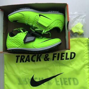 Nike Zoom High Jump Elite Track Spikes Green/black Men's Size 6.5 MSRP $125