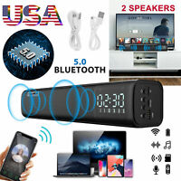 Bluetooth Sound Bar Wired &Wireless Speaker Subwoofer Stereo for Home Theater TV