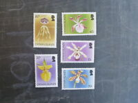 2005 CAYMAN ISLANDS ORCHIDS SET 5 MINT STAMPS MNH