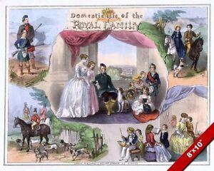DOMESTIC LIFE OF THE ROYAL FAMILY BRITISH HISTORY PAINTING ART REAL CANVASPRINT