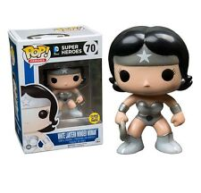 "EXCLUSIVE DC COMICS GLOW WHITE LANTERN WONDER WOMAN 3.75"" POP VINYL FIGURE FUNKO"