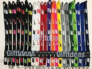 Nike Adidas Jordan Lanyard Detachable Keychain Badge ID Holder Free Shipping !