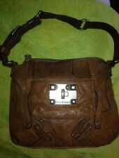 Juicy Couture Brown Distressed Leather Lock-it  Shoulder Bag Purse--SO COOL!