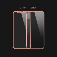 3D Front+Back Titanium 9H Tempered Glass Film Screen Protective Case For iPhone