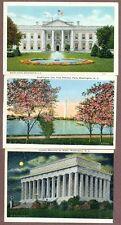 Three Washington Dc Postcards, Early 1930's
