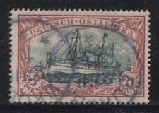 1901 German colonies EAST AFRICA  3 Rupien Yacht issue used BUKOBA  $ 960.00