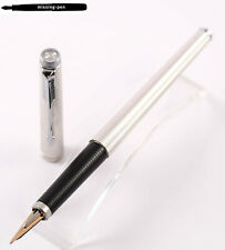 Parker 180 Fountain Pen Grain d'Orge Silver Plated Imperial Lined CT / XM-nib