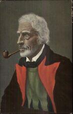 Man in Native Clothing Smoking Pipe c1910 Postcard MERANER BAUER