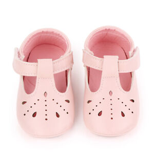 Baby Girl Pu Leather Toddler Infant Soft Sole Flats Shoes First Walking Sneakers