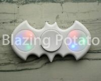 Light Up LED Bat Fidget Hand Spinner Figet Desk Toy Focus EDC ADHD ☆USA☆ WHITE