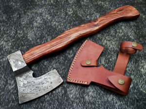 """New Beautiful Handmade Damascus Steel AXE """"UNIQUE AXE"""" Limited Edition WD-9385"""