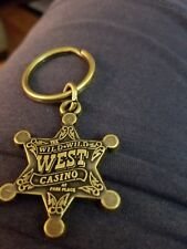 VINTAGE WILD WILD WEST CASINO AT BALLY'S PARK PLACE METAL KEY CHAIN WITH RING