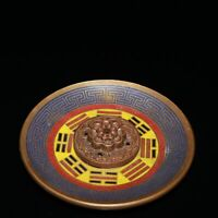China Cloisonne Enamel Bronze Wire Inlay Eight Diagrams Joss Stick Incense Stick