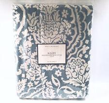 Pottery Barn RILEY King Headboard Slipcover BLUE & IVORY NEW