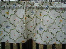 "pfaltzgraff Pistoulet 31"" Valance 1.5 rod,KItchen,cotton floral,multi-color"