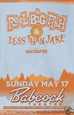 REEL BIG FISH/LESS THAN JAKE/INTERRUPTERS 2015 MONTANA CONCERT TOUR POSTER - Ska