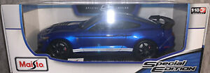 1:18 Maisto Ford Mustang Shelby GT500 American Muscle Sports Car 1/18 Blue