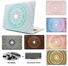 Hard Shell Case Cover & Keyboard Skin Dust Plugs For Apple Mac Book Macbook -LS