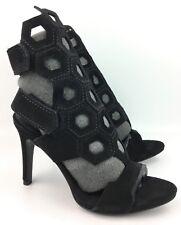 Pedro Garcia Salvia Black Suede Gladiator Sandals Heels sz: 36 | US 6 - $695