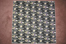NFL BALTIMORE RAVENS HEAD BANDANA / CHEERING CLOTH - APPROX 22 1/2 ""