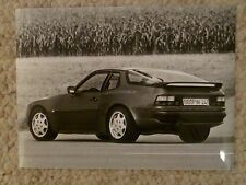 "1990 Porsche 944 Turbo Coupe B&W Press ""Werkfoto"" Photo Factory Issued RARE!!"