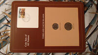 Coin Sets of All Nations Turks & Caicos Nelson UNC w/card 1/2 & 1/4 Crown 1981