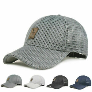 Mens Summer Snapback Quick Dry Mesh Baseball Cap Sun Golf Hat Breathable Hat NEW