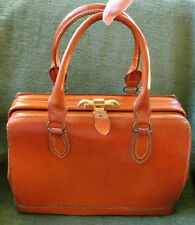 Vintage Saddle Leather Travel Overnight Dr. Hand Bag Style