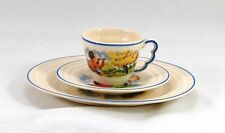 Leigh Potters Trio Demitasse Cup Saucer Salad Plate Flute Playing Shepherd Boy