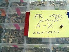 FR-900 BAG SEALER ALPHABET CHARACTERS EMBOSSER CODER PARTS SET OF 26 LETTERS