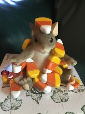 Charming Tails Fitz & Floyd Candy Corn Caper Figurine Box Fall Decoration